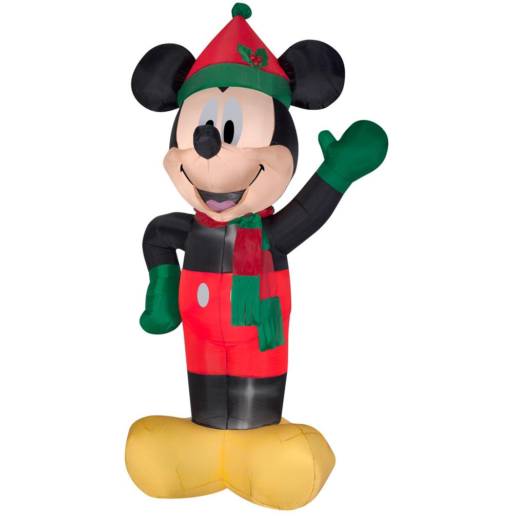 8 ft. Inflatable Lighted Airblown Mickey with Hat and Scarf-17608 ...