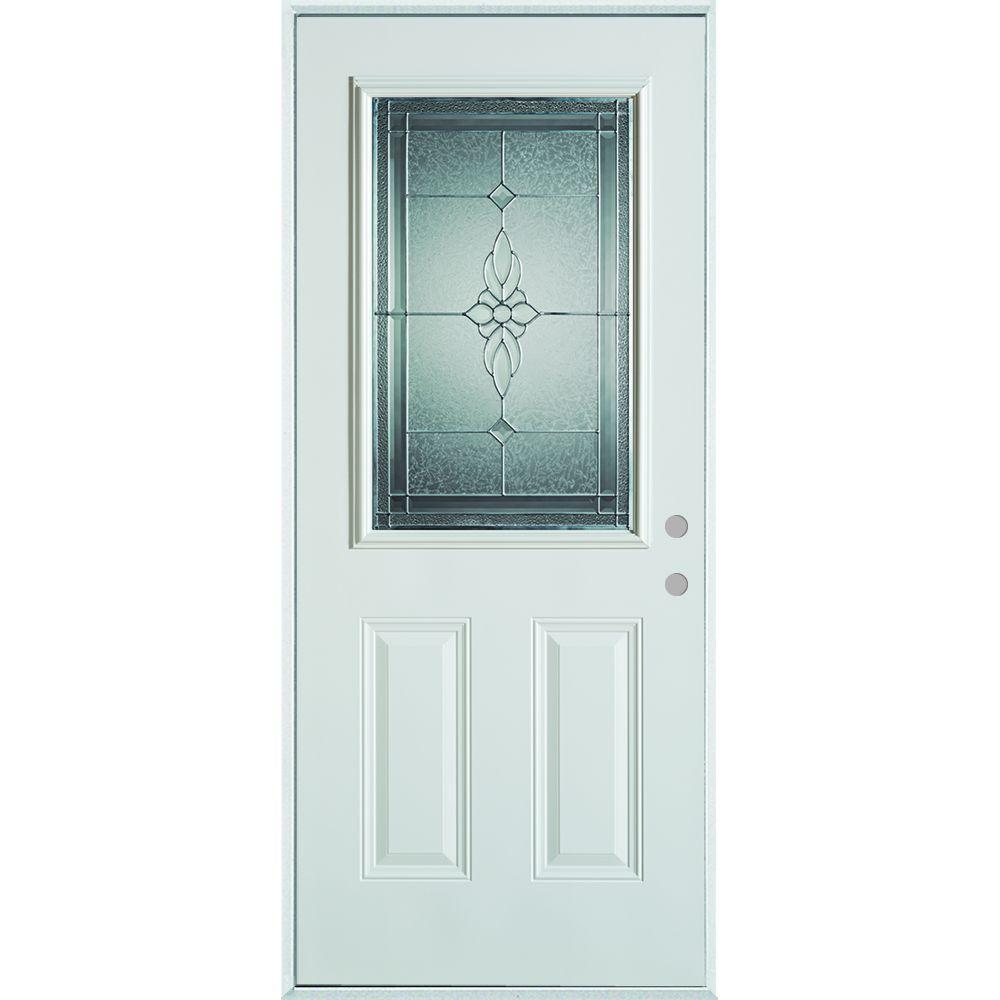 Stanley Doors 36 in. x 80 in. Victoria Classic Zinc 1/2 Lite  sc 1 st  Home Depot & Stanley Doors 36 in. x 80 in. Victoria Classic Zinc 1/2 Lite 2 ... pezcame.com