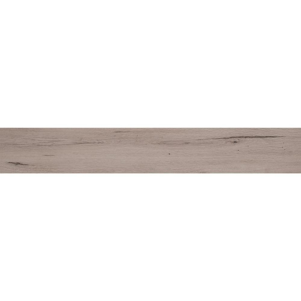 MS International Arbor Fog 6 in. x 36 in. Porcelain Floor and Wall Tile (15 sq. ft. / case), Gray/Fog