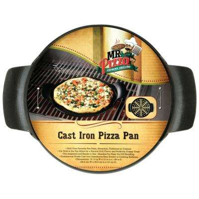 Mr. Pizza Supremo Grilling Cast Iron Pizza Pan