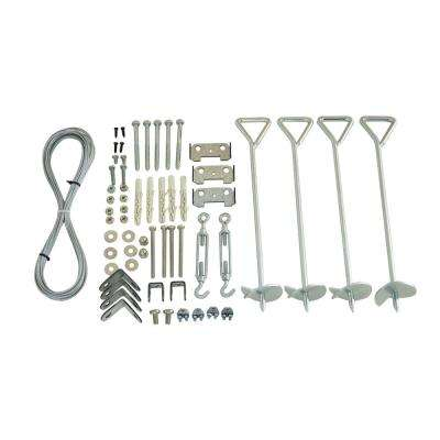 Nature Series 0.33 ft. x 0.33 ft. x 18 in. Greenhouse Anchoring Kit