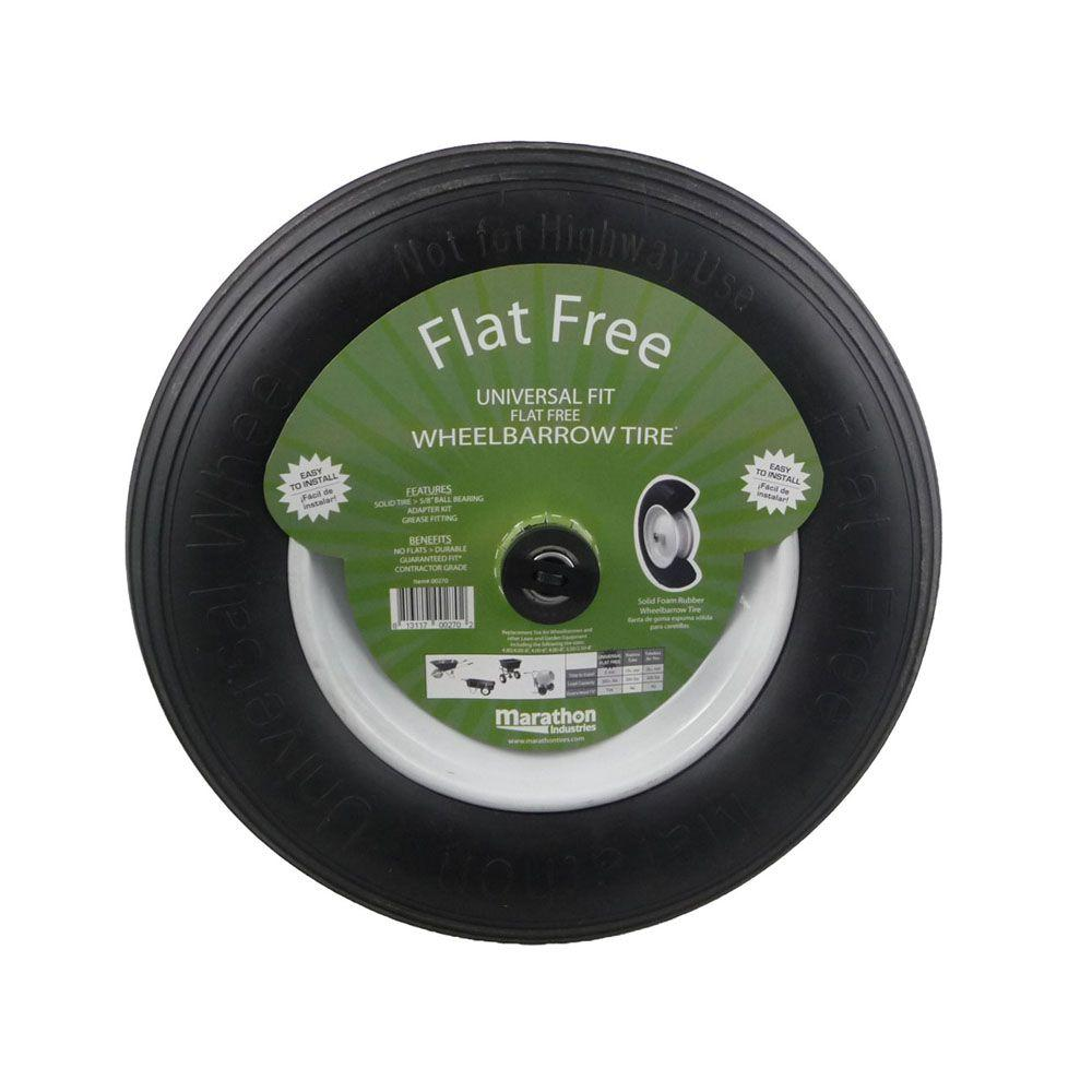 Marathon 14-1/2 in. Flat-Free Wheel for Wheelbarrows