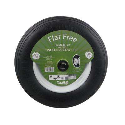 14-1/2 in. Flat-Free Wheel for Wheelbarrows