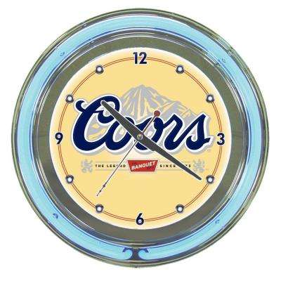 14 in. Coors Banquet Neon Wall Clock