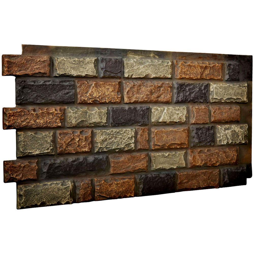 1-1/2 in. x 48 in. x 25 in. Redstone Urethane Cut Coarse Random Rock Wall Panel