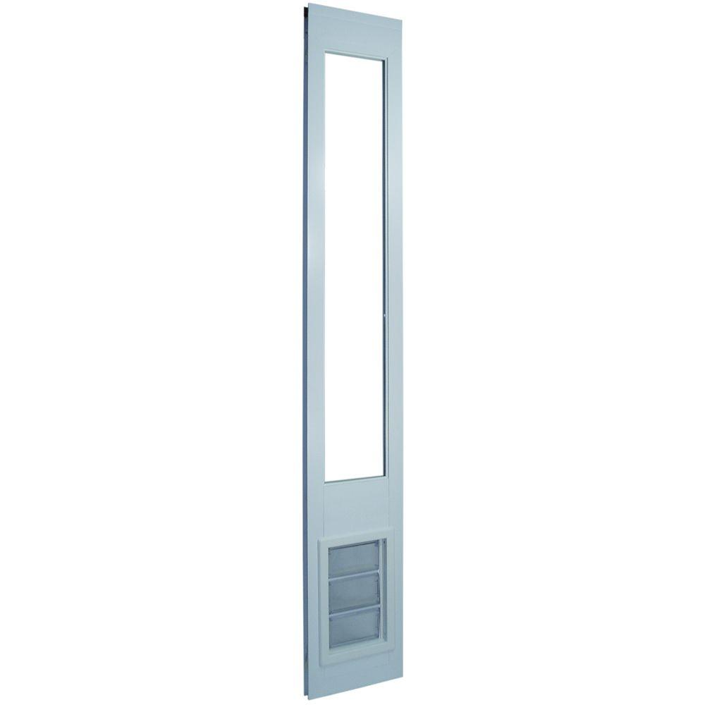 6.625 in. x 11.25 in. Medium White Vinyl Pet Patio Door