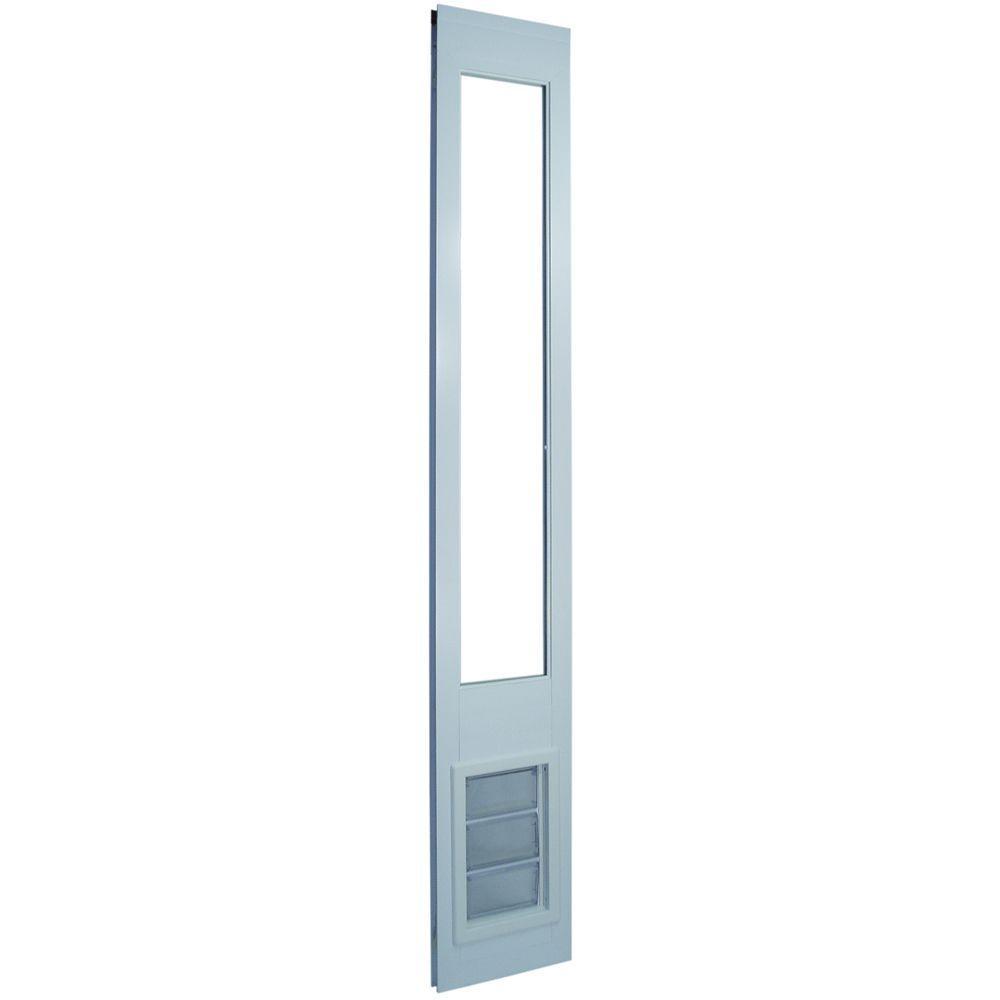 10.25 in. x 15.75 in. White Insulated AirSeal Pet Patio Door for 92.75 in. to 94.5 in. Vinyl Sliding Door