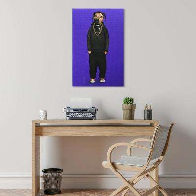 """""""Rap Glitter"""" High Resolution Graphic Art Print on Wrapped Canvas Wall Art"""