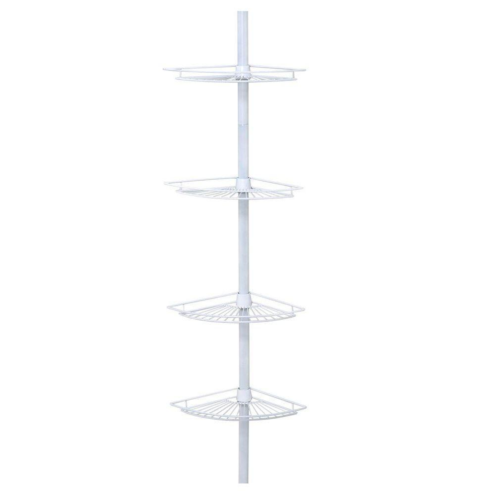 4-Tier Wire Pole Caddy in White