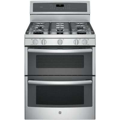 30 in. 6.8 cu. ft. Double Oven Gas Range with Self-Cleaning Convection Oven (Lower Oven) in Stainless Steel