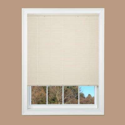 Ivory Cordless 1 in. Duplex Vinyl Mini Blind - 54 in. W x 64 in. L