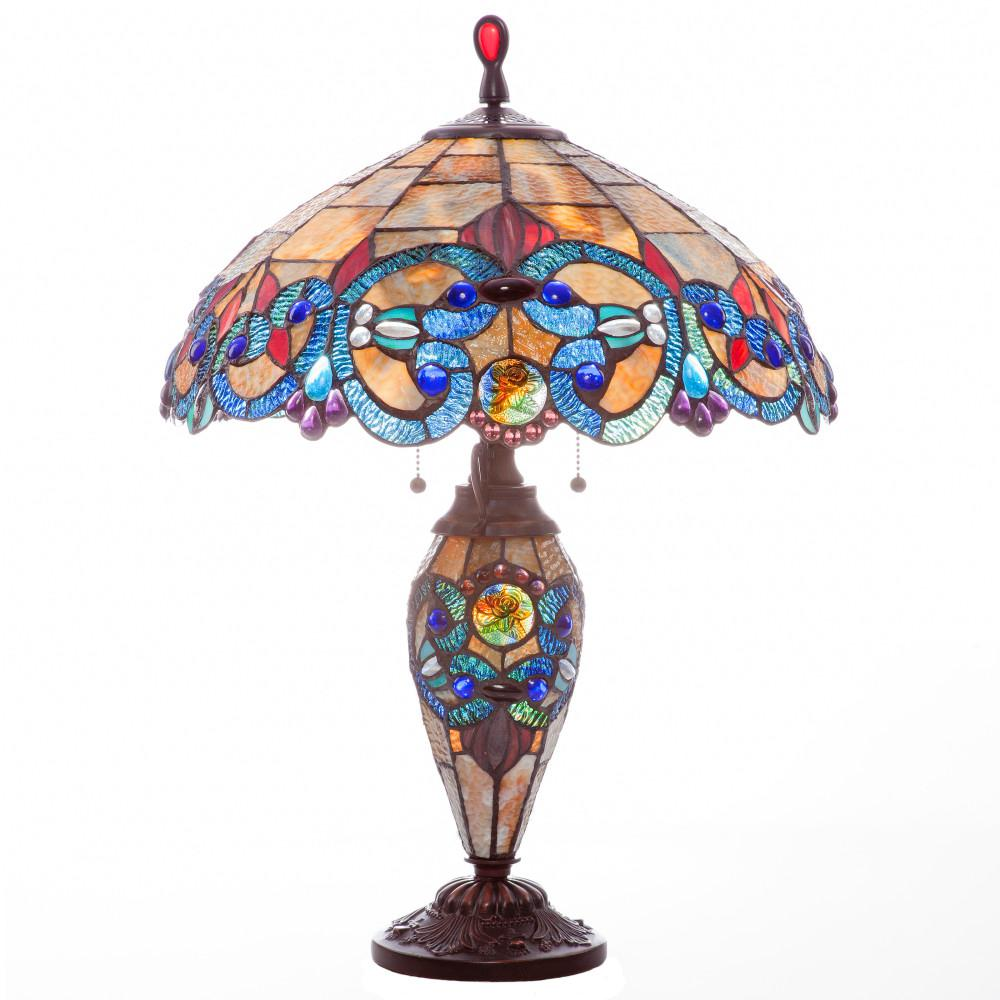 River Of Goods 26 in. Amber Indoor Table Lamp with Staine...