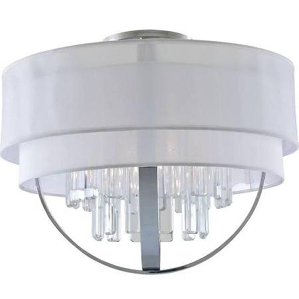 Filament Design Celestial 5-Light Chrome Semi-Flush Mount Light