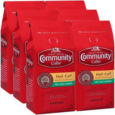 12 oz. Half-Caff Medium-Dark Roast Premium Ground Coffee (6-Pack)