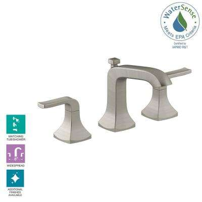 Rubicon 8 in. Widespread 2-Handle Bathroom Faucet in Vibrant Brushed Nickel