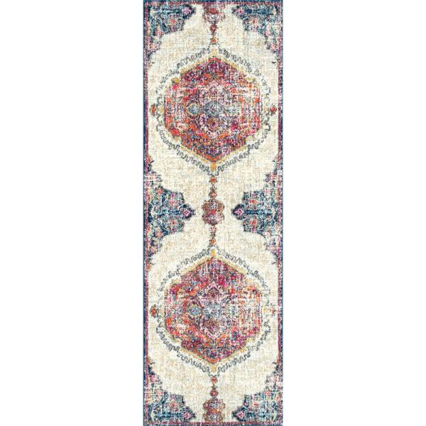 Maranda Vintage Medallion Multi 3 ft. x 10 ft. Runner
