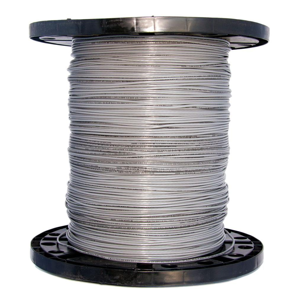 2500 ft. 14 Gray Stranded CU THHN Wire
