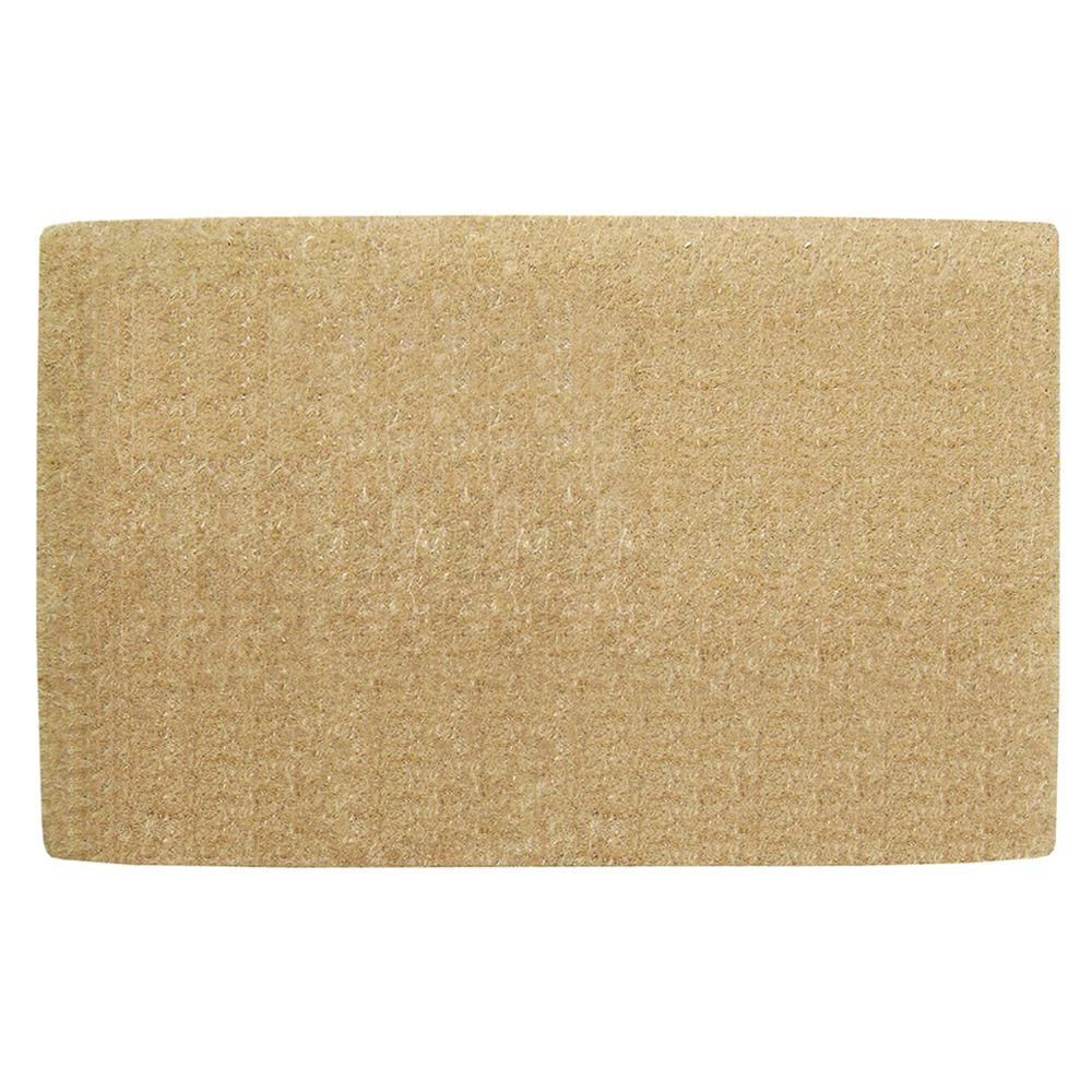 Nedia Home No Border Plain 30 In. X 48 In. Coir Door Mat O2100   The Home  Depot