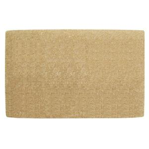 No Border Plain 22 in. x 36 in. Coir Door Mat