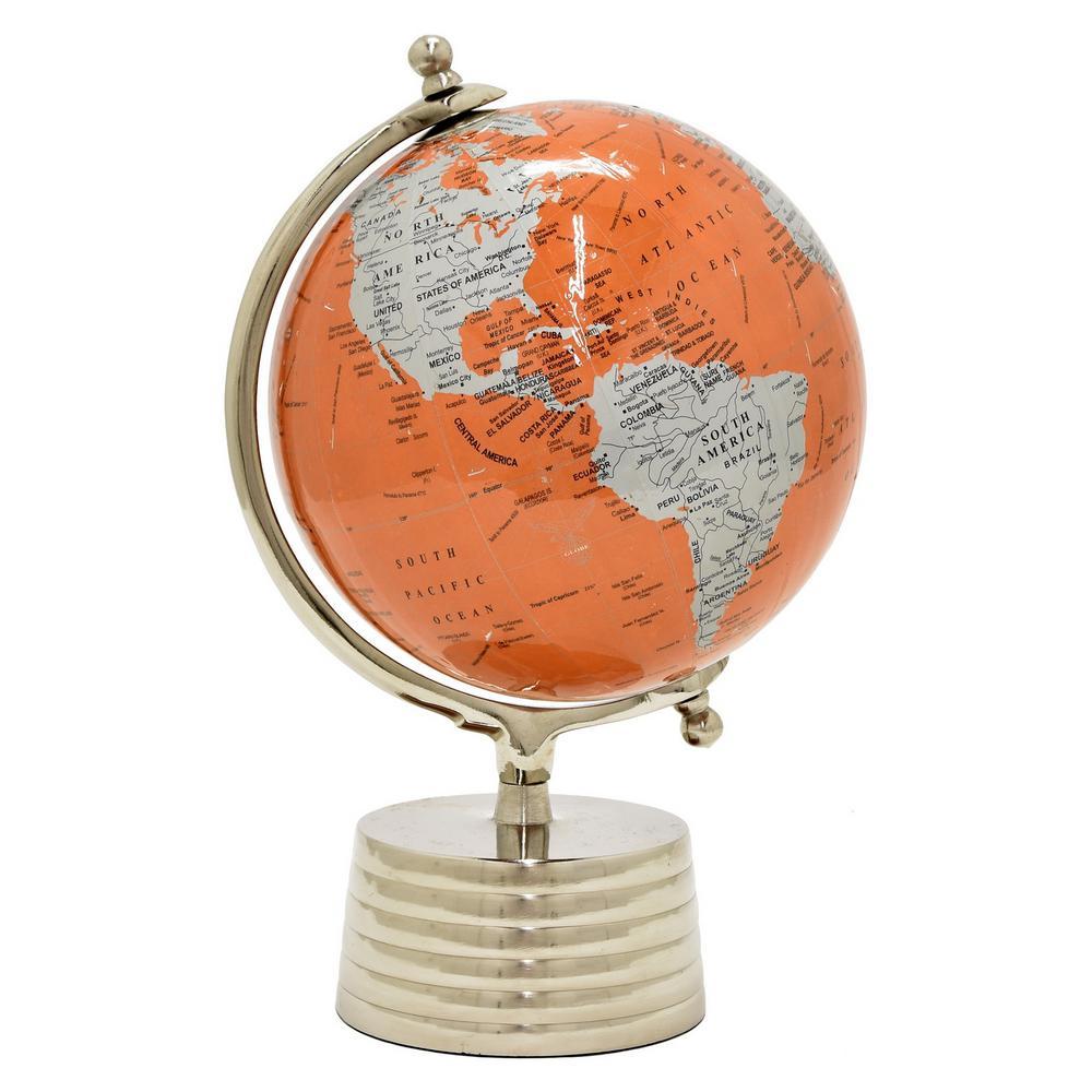 15.5 in. Orange Globe 12 in. Nickel