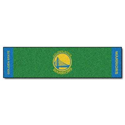 NBA Golden State Warriors 1 ft. 6 in. x 6 ft. Indoor 1-Hole Golf Practice Putting Green