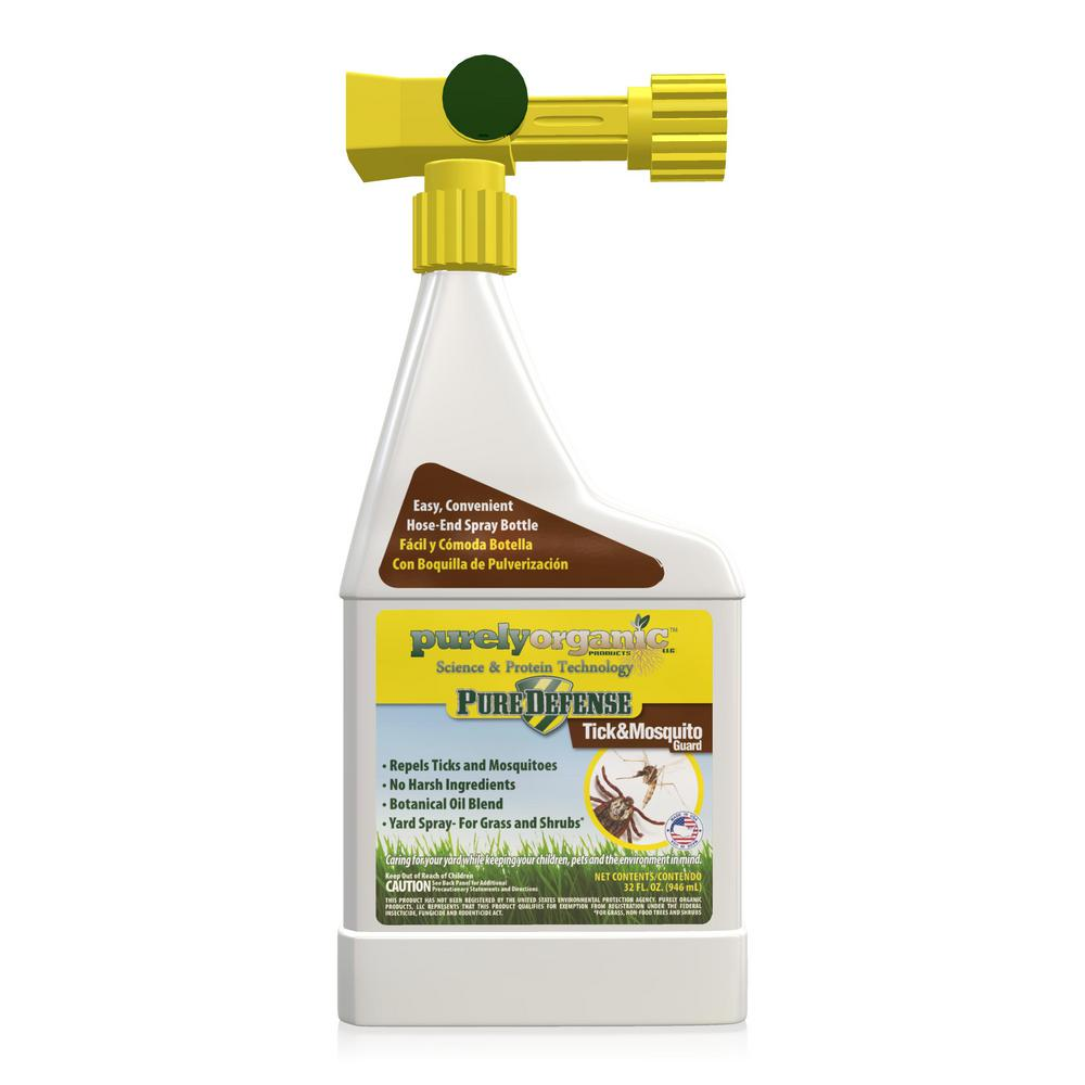 Pure Defense Purely Organic Products Llc Pure Defense Tick And Mosquito Guard 32 Oz Hose End Tick And Mosquito Repellent Tmpdjrdk1 The Home Depot