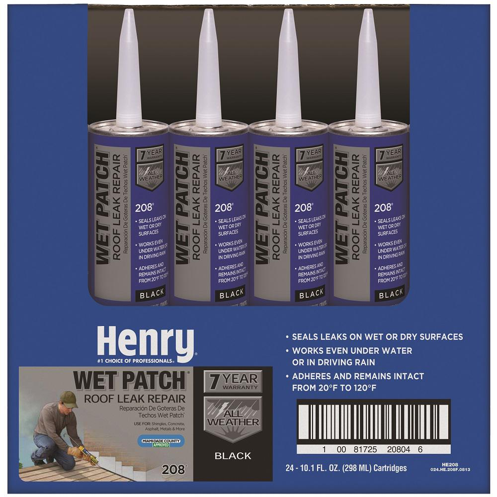 Henry 10.3 oz. 208 Wet Patch Roof Cement