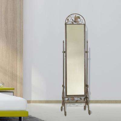 Butterfly Oil-rubbed Bronze Cheval Floor Mirror