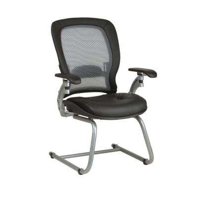 36 Series Black AirGrid Back Visitor Office Chair