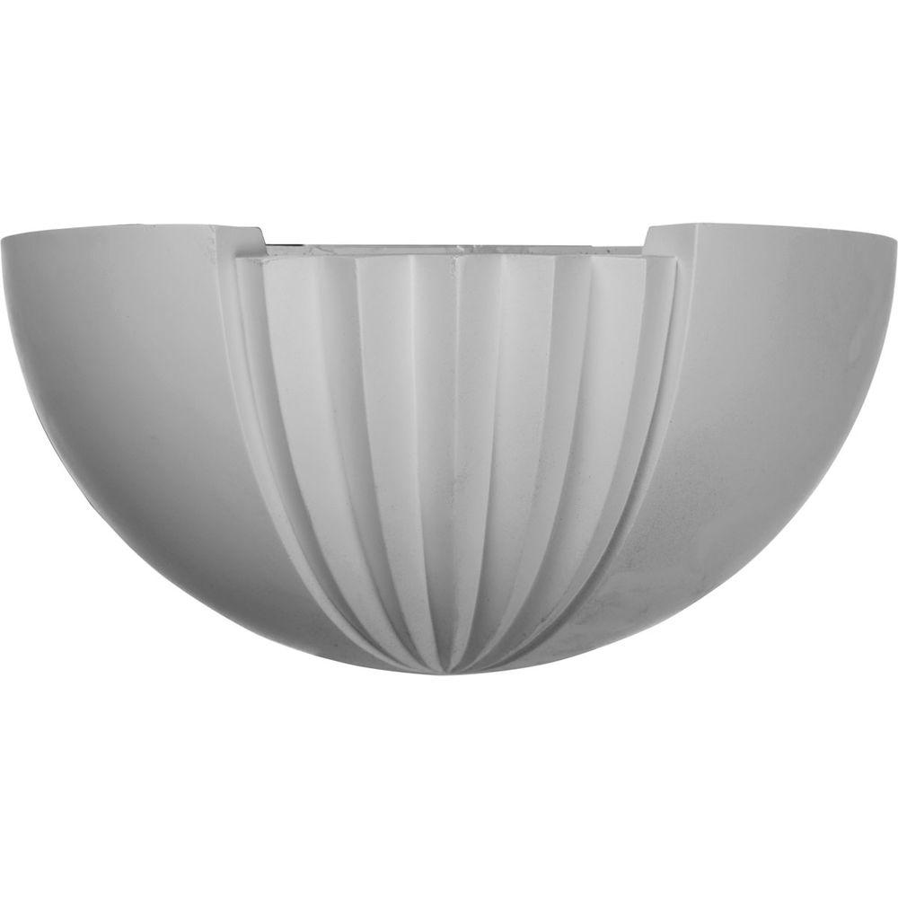 Ekena Millwork 7 in. x 6-7/8 in. x 16-1/2 in. Primed Polyurethane Traditional Sconce