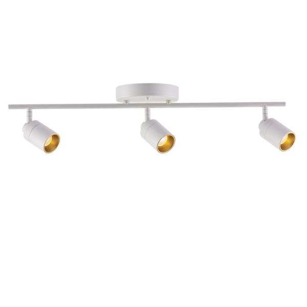VidaLite 2 ft. 3-Bulb 1470 Lumens Sand White LED Track Lighting Kit Fixed Rail with Rotating Heads, 3000K