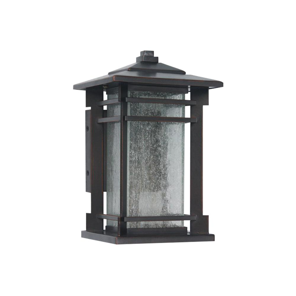 Home Decorators Collection Oil Rubbed Bronze Outdoor Integrated Led Wall Mount Lantern Lvb0642 S