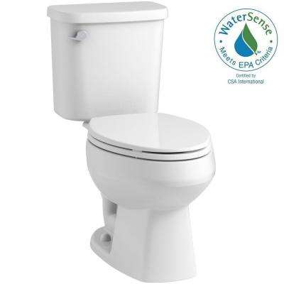 Windham 2-piece 1.28 GPF Single Flush Elongated Toilet in White