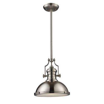 Chadwick 1-Light Satin Nickel Ceiling Mount Pendant