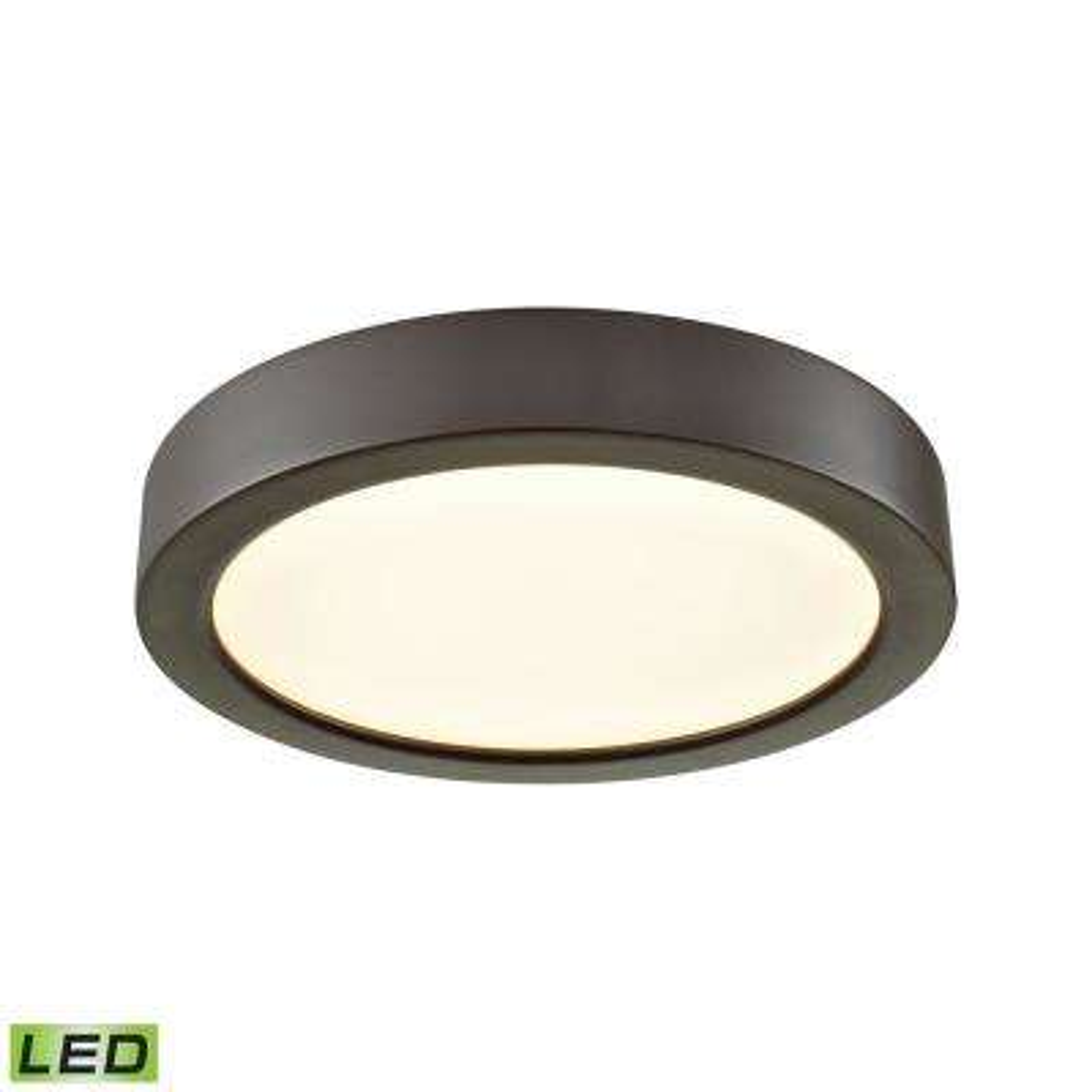Titan 60-Watt Oil Rubbed Bronze Integrated LED Flushmount