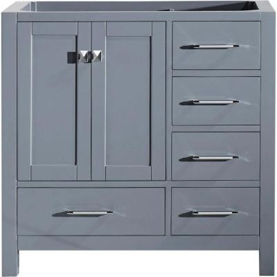Caroline Avenue 36 in. W Bath Vanity Cabinet Only in Gray