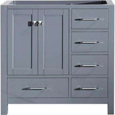 Caroline Avenue 36 in. W x 22 in. D Vanity Cabinet Only in Grey