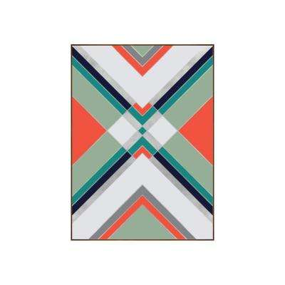 "34.25 in. x 25.25 in. ""Boho I"" by Bobby Berk Printed Framed Wall Art"