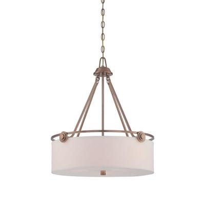 Gramercy Park 3-Light Old Satin Brass Interior Incandescent Pendant