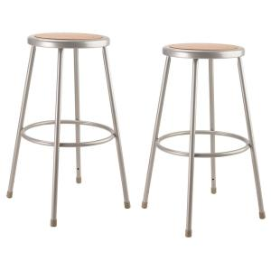 Awesome National Public Seating 30 In Grey Heavy Duty Steel Stool Ibusinesslaw Wood Chair Design Ideas Ibusinesslaworg