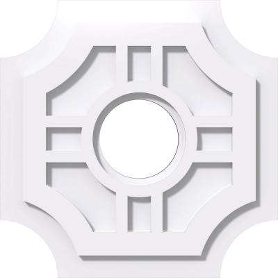 14 in. OD x 4 in. ID x 1 in. P Haus Architectural Grade PVC Contemporary Ceiling Medallion
