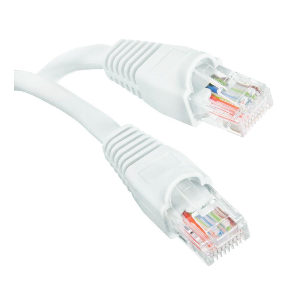 Commercial Electric 150 Ft Cat5e Utp Ethernet Cable White Bstc5 Cables Gray Patch Snagless Molded Boot 75 Foot