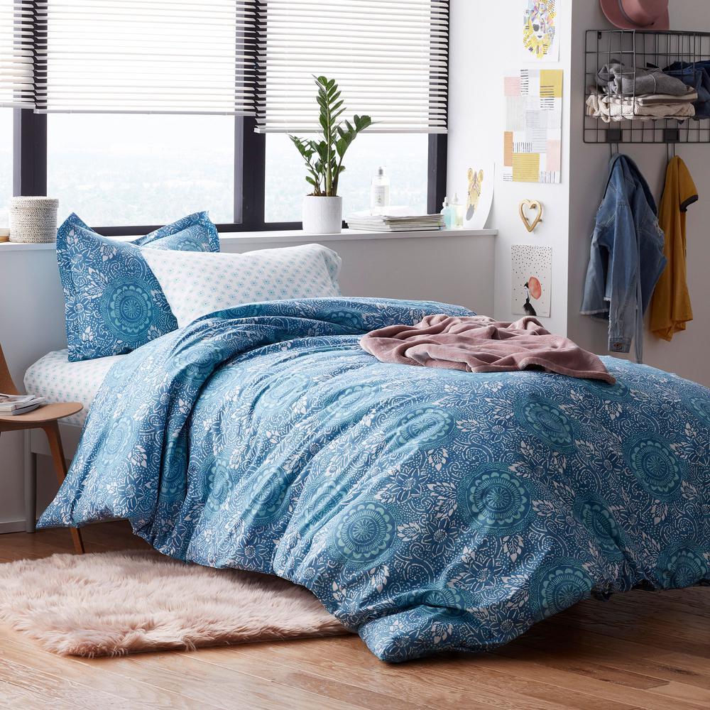 Zoe 200-Thread Count Cotton Percale Duvet Cover Set