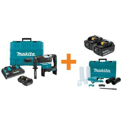 18V X2 LXT 36V Cordless 1-9/16 in. Rotary Hammer Kit, accepts SDS-MAX Bonus 5.0Ah Battery and Dust Extraction Attachment