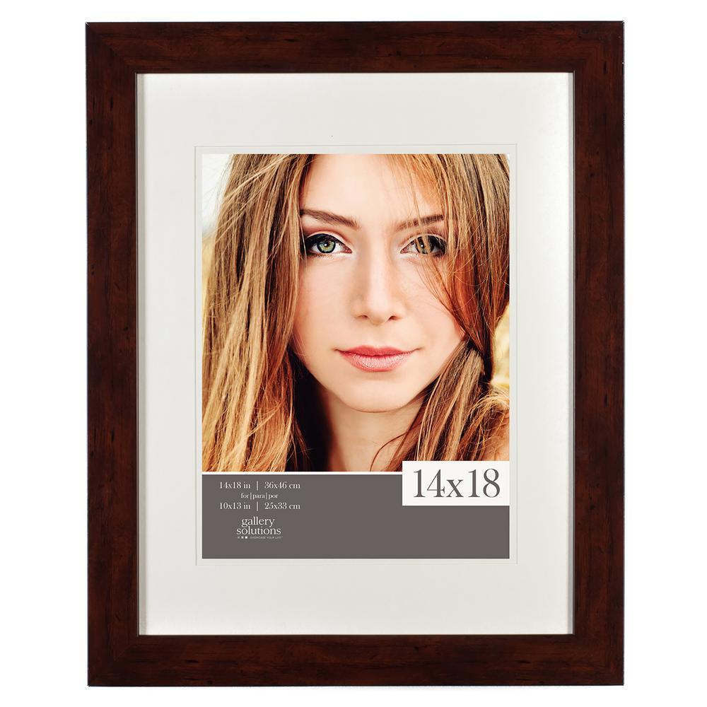 11 in. x 14 in. Walnut Picture Frame