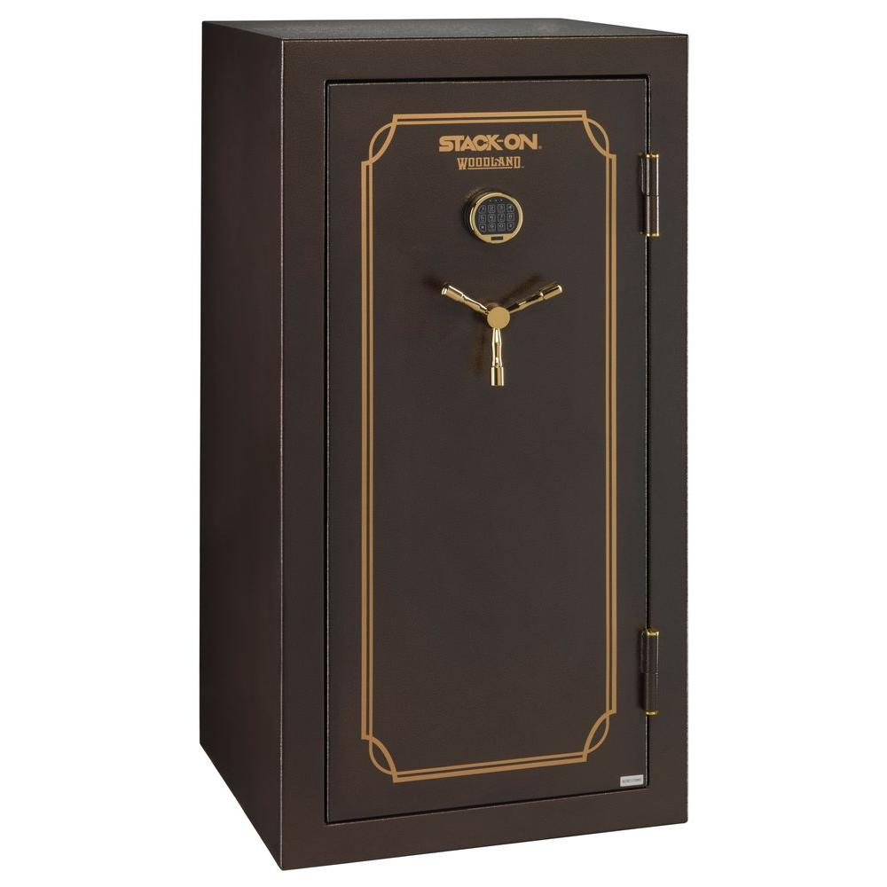 40-Gun Fire Resistant Back-Lit Electronic Lock Safe, Brown Hammertone