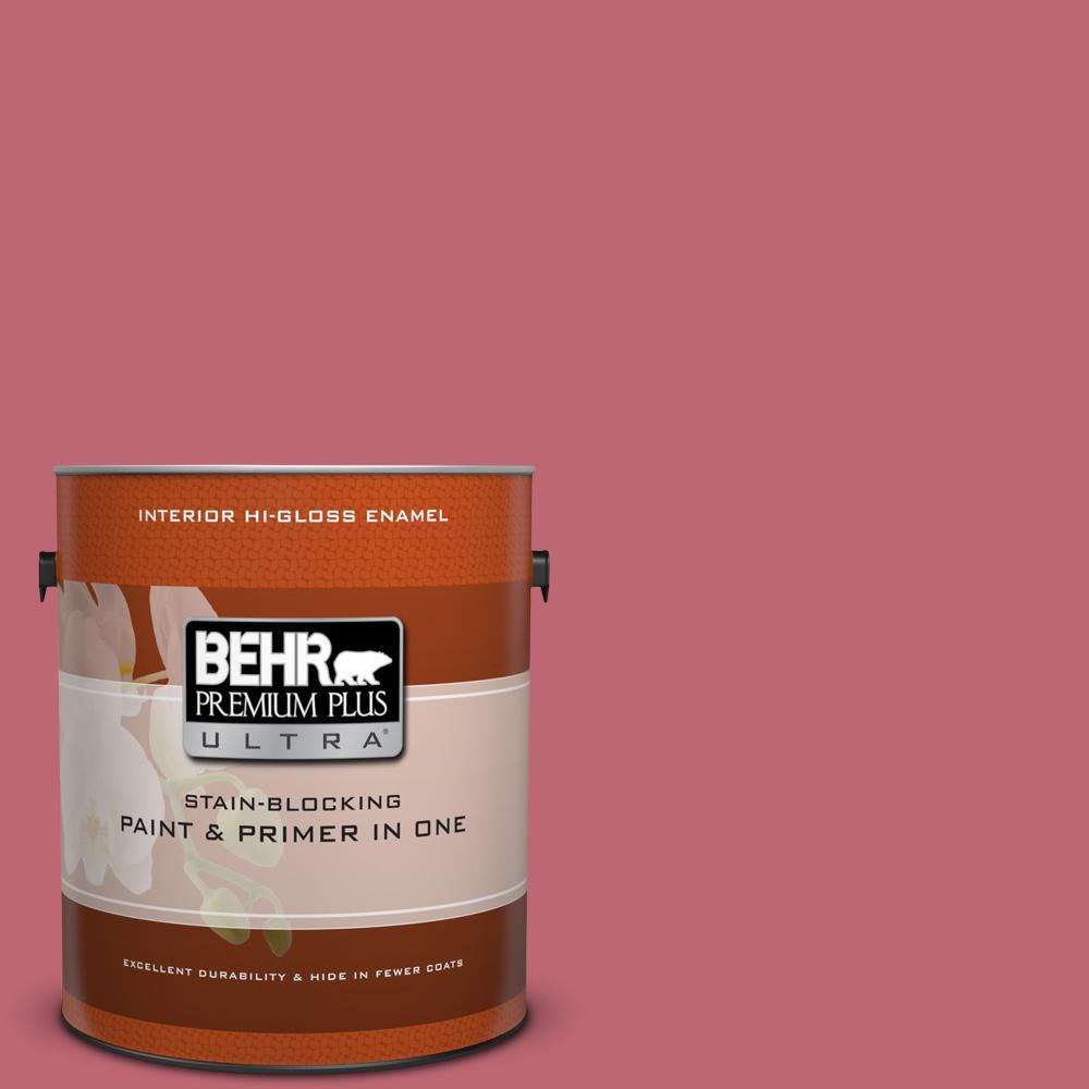 1 gal. #M140-5 Cherry Fizz Hi-Gloss Enamel Interior Paint