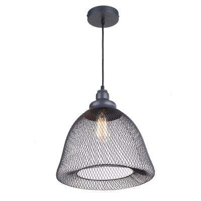 1-Light Dark Grey Pendant