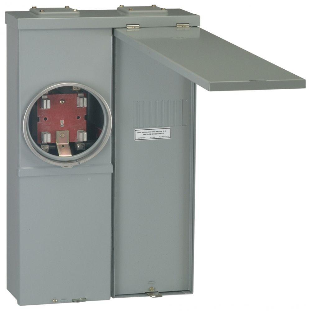 PowerMark Gold 125 Amp 4-Space 8-Circuit Meter Socket Outdoor Load Center