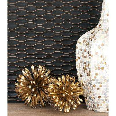 Round Iron Metal Gold Loop Band Orb Sculptures (Set of 3)